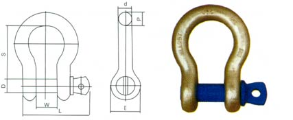 Bow Shackles - With Screw Pin